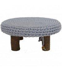 Dziergany stolik kawowy na wiśniowych nóżkach Motarnia