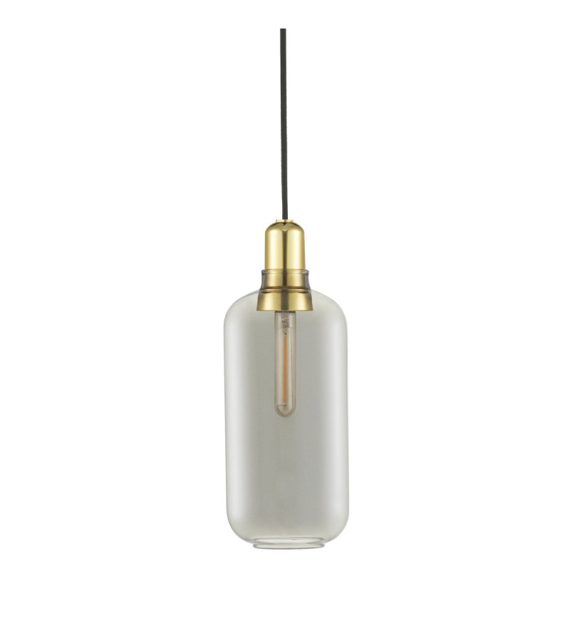 Lampa AMP Normann Copenhagen - antracyt i mosiądz, wysokość 26 cm