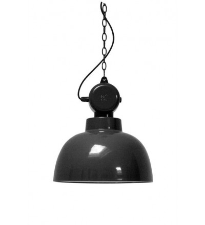 Emaliowana lampa warsztatowa Factory M HK Living - czarna
