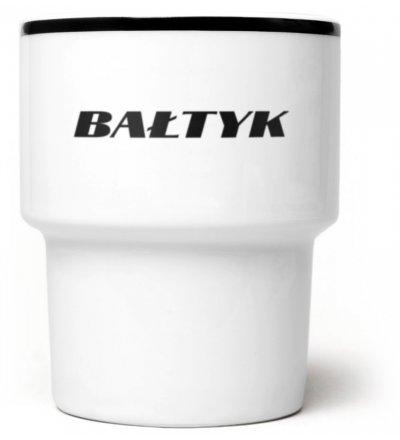 Kubek porcelanowy 'Bałtyk' Mamsam - czarny, edycja limitowana