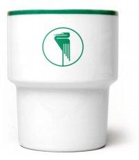 Kubek porcelanowy 'Pelikan' Mamsam - zielony, edycja limitowana