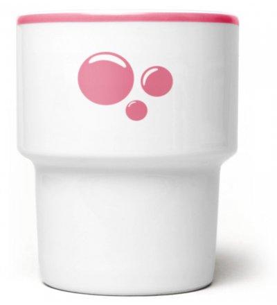 Kubek porcelanowy 'Bubble' Mamsam - różowy, edycja limitowana