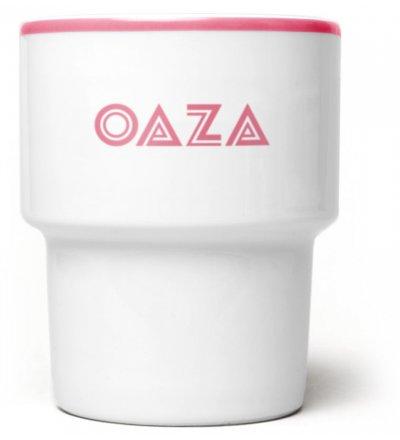 Kubek porcelanowy 'Oaza' Mamsam - różowy, edycja limitowana