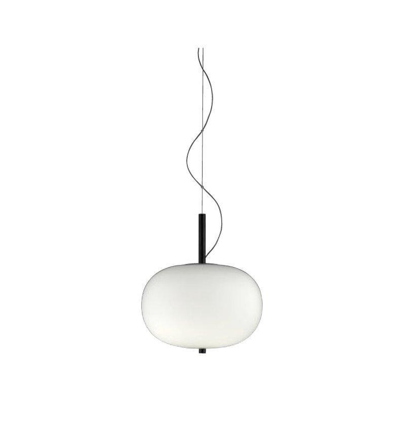 Lampa wisząca Ilargi GROK - pojedyncza, ciemny jesion, średnica 32 cm