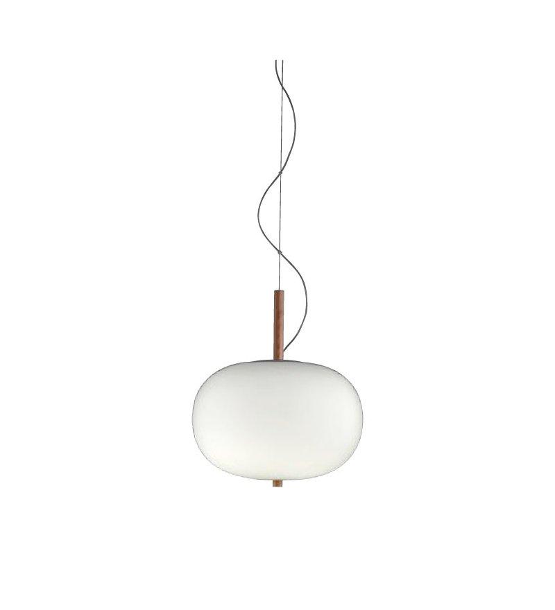 Lampa wisząca Ilargi GROK - pojedyncza, jasny jesion, średnica 32 cm