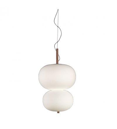 Lampa wisząca Ilargi GROK - podwójna, jasny jesion, średnica 39.5 cm