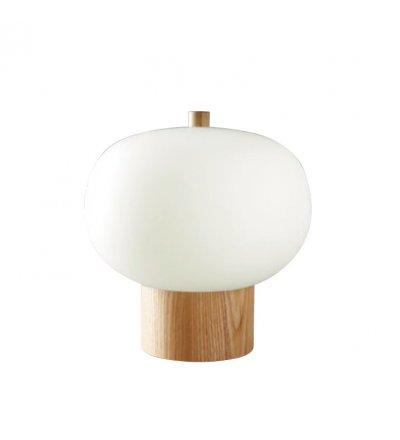 Lampa stołowa Ilargi GROK - jasny jesion, średnica 32 cm
