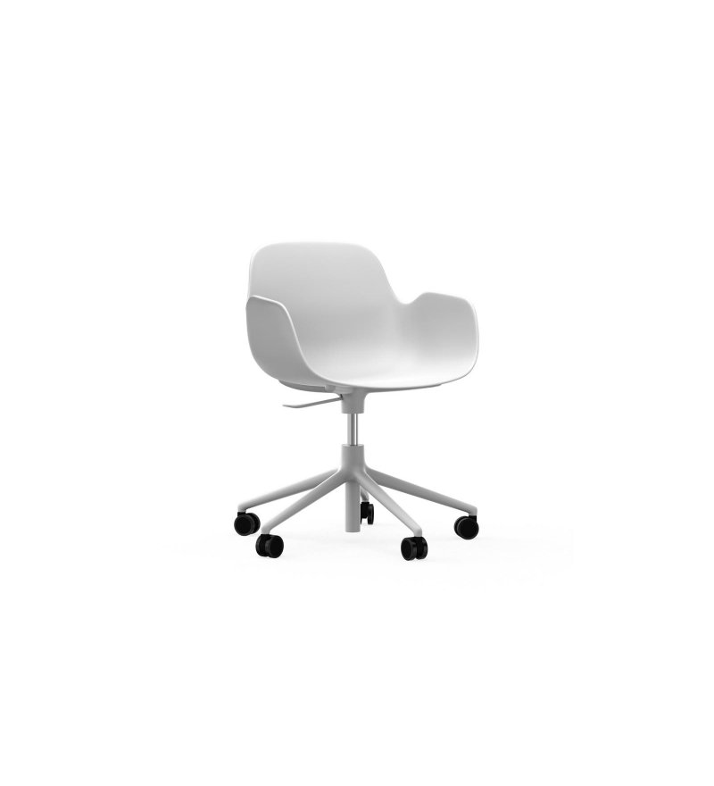 Fotel FORM ARMCHAIR SWIVEL 5W Gaslift White Alu Normann Copenhagen - różne kolory