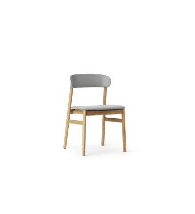 Krzesło tapicerowane HERIT CHAIR Normann Copenhagen - dębowe nogi, różne kolory siedziska