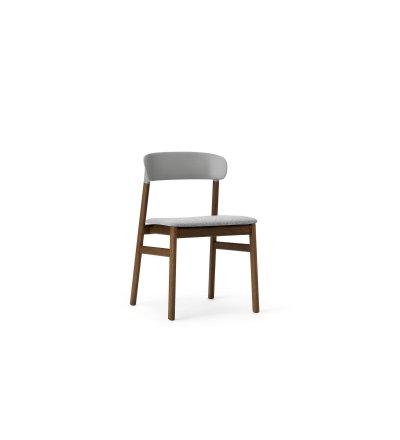 Krzesło tapicerowane HERIT CHAIR Normann Copenhagen - nogi w kolorze przydymionego dębu, różne kolory siedziska