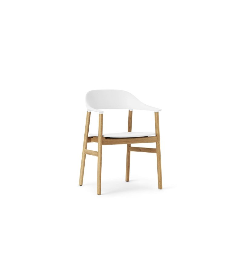 Fotel HERIT CHAIR Normann Copenhagen - dębowe nogi, różne kolory siedziska