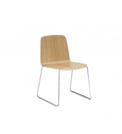 Krzesło JUST CHAIR od Normann Copenhagen - różne opcje wykończenia - jesionowy fornir
