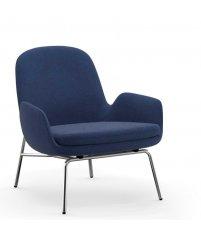 Fotel tapicerowany ERA LOUNGE CHAIR Normann Copenhagen - niski, chromowane nogi, różne kolory siedziska