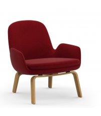 Fotel tapicerowany ERA LOUNGE CHAIR Normann Copenhagen - niski, dębowe nogi, różne kolory siedziska