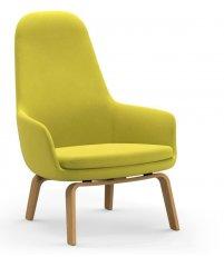 Fotel tapicerowany ERA LOUNGE CHAIR Normann Copenhagen - wysoki, dębowe nogi, różne kolory siedziska