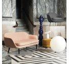 Sofa 2-osobowa modułowa tapicerowana SUM Normann Copenhagen - na czarnych aluminiowych nogach, różne kolory siedziska
