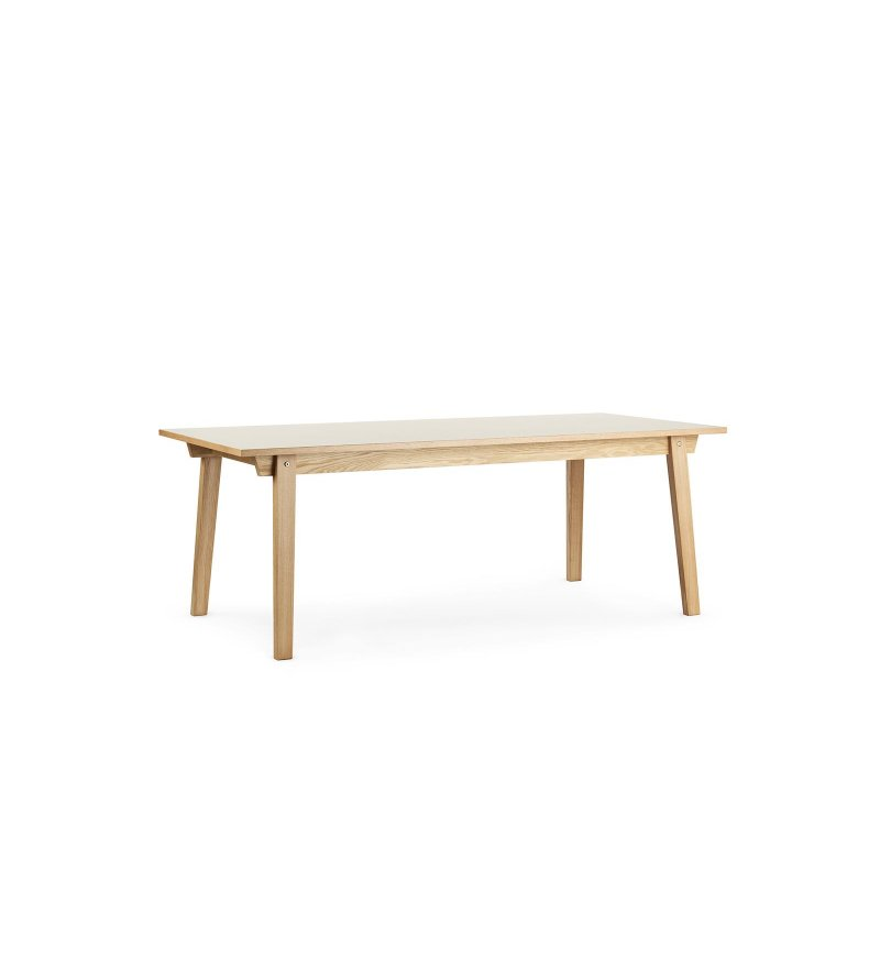 Stół SLICE TABLE LINOLEUM 90 x 200 cm Normann Copenhagen - dąb, różne kolory