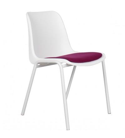 4 krzesła Back to Gym white/magenta Zuiver