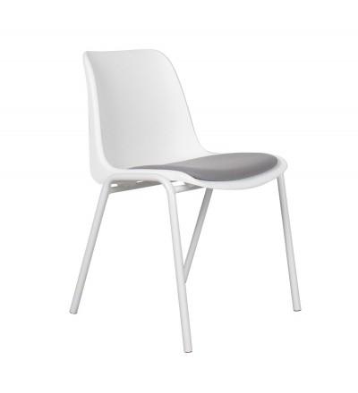 4 krzesła Back to Gym white/grey Zuiver