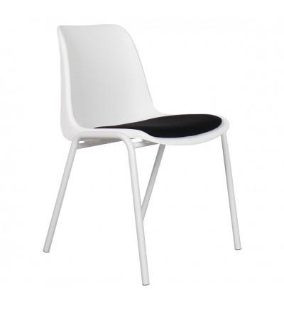 4 krzesła Back to Gym white/black Zuiver