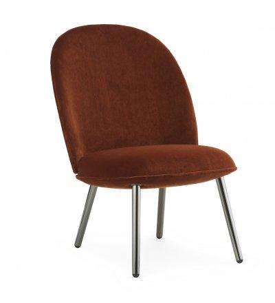 Fotel tapicerowany ACE LOUNGE CHAIR Normann Copenhagen - różne kolory tapicerki, 2 kolory stalowych nóg