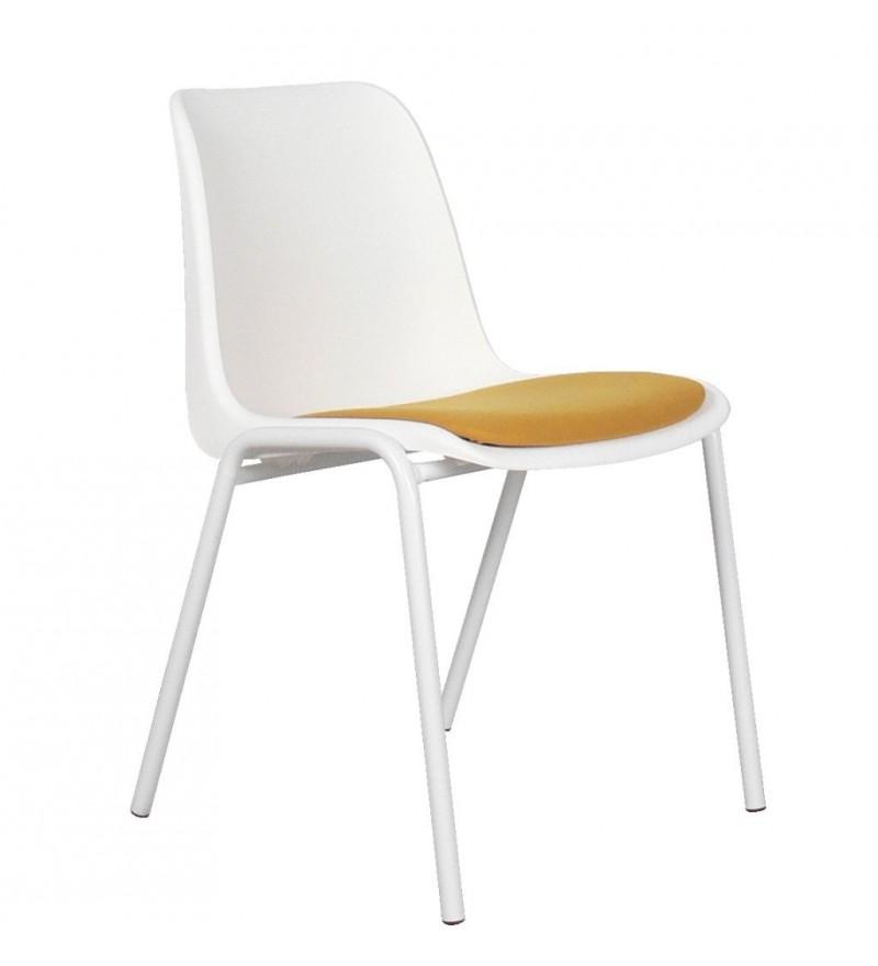 4 krzesła Back to Gym white/ochre Zuiver