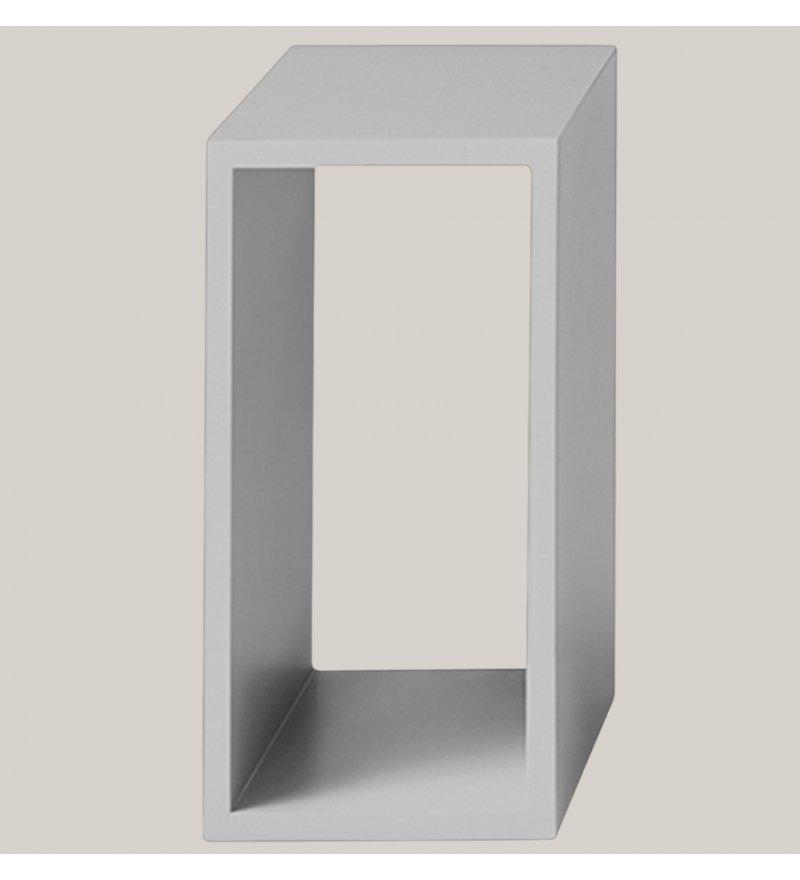 Regał modułowy STACKED 2.0 Muuto - elementy jasnoszare otwarte