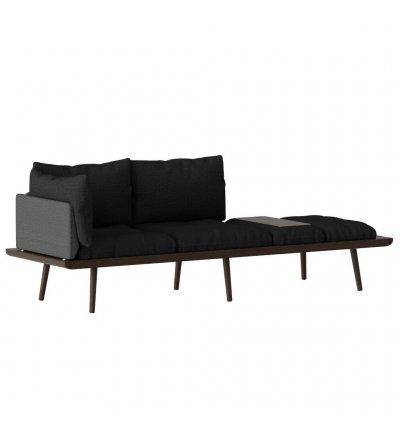 OUTLET Sofa 3-osobowa Lounge Around UMAGE - dark oak, ze stolikiem i ramieniem do lampy