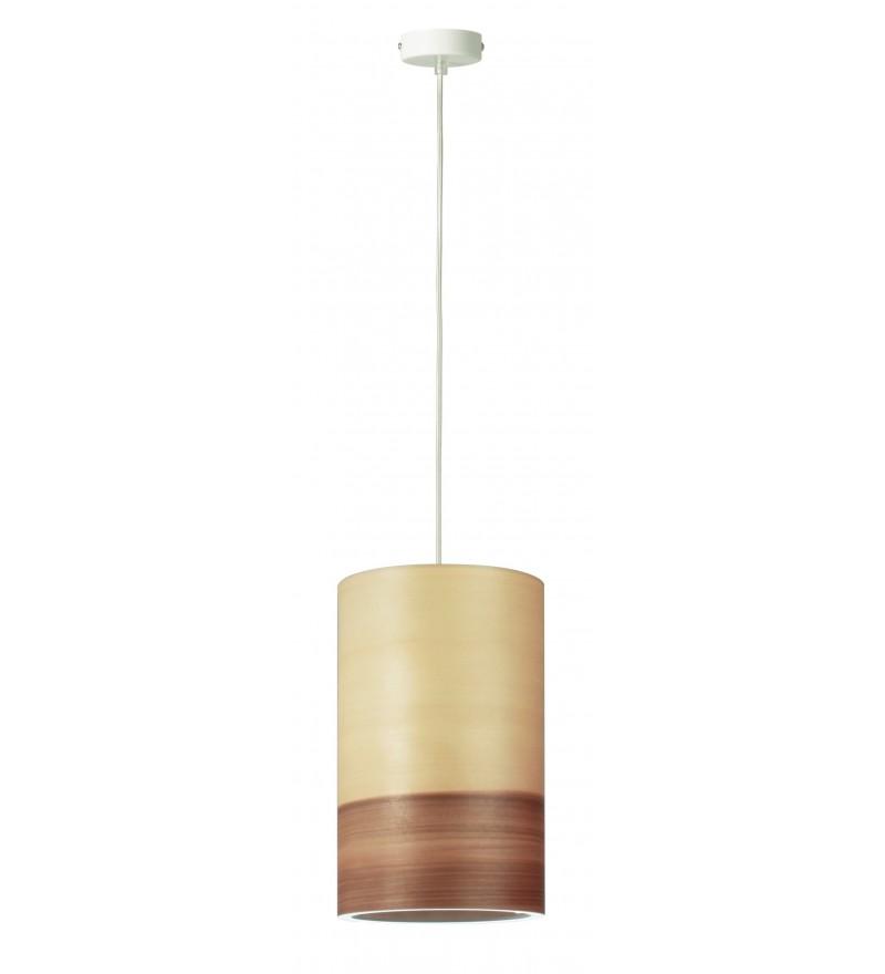 Lampa wisząca FUNK 16/26P orzech satyna - średnica 16 cm