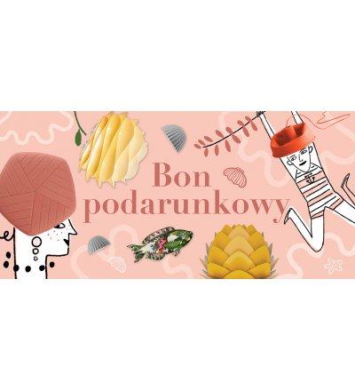 Bon podarunkowy 100 zł Pufa Design - wersja różowa