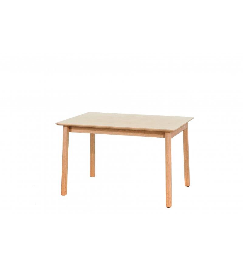 Stół rozkładany Lorem Paged - dębowy, 85 cm x 125 / 185 cm