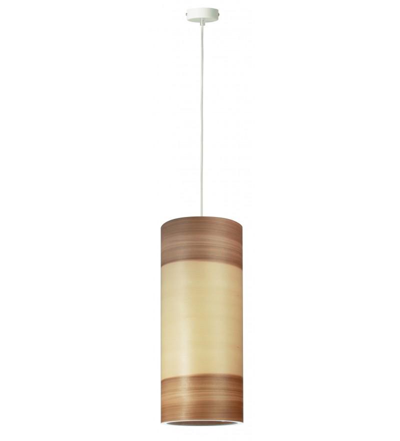 Lampa wisząca FUNK 16/40P orzech satyna - średnica 16 cm