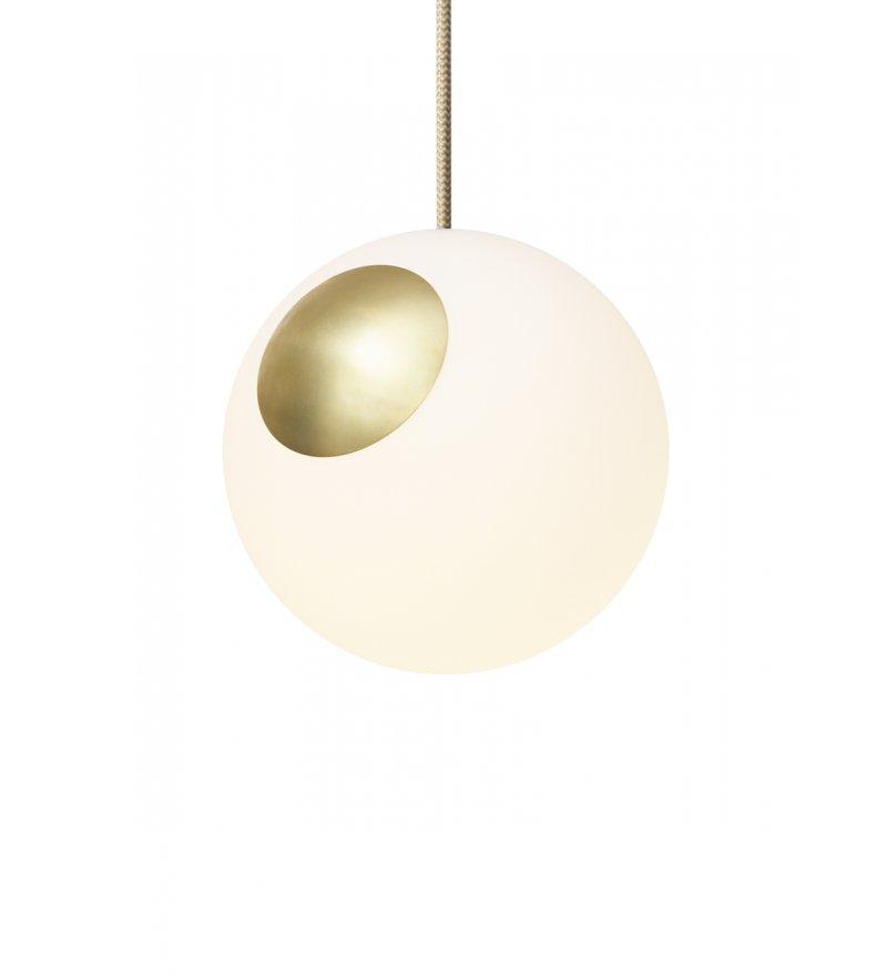 Lampa Bright Spot Brass  Nordic Tales  - mosiądz + przewód crema
