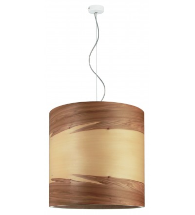 Lampa wisząca FUNK 40/40P orzech satyna - średnica 40 cm