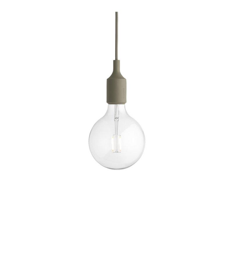 Lampa żarówka na kablu E27 LED Muuto skandynawskie lampy