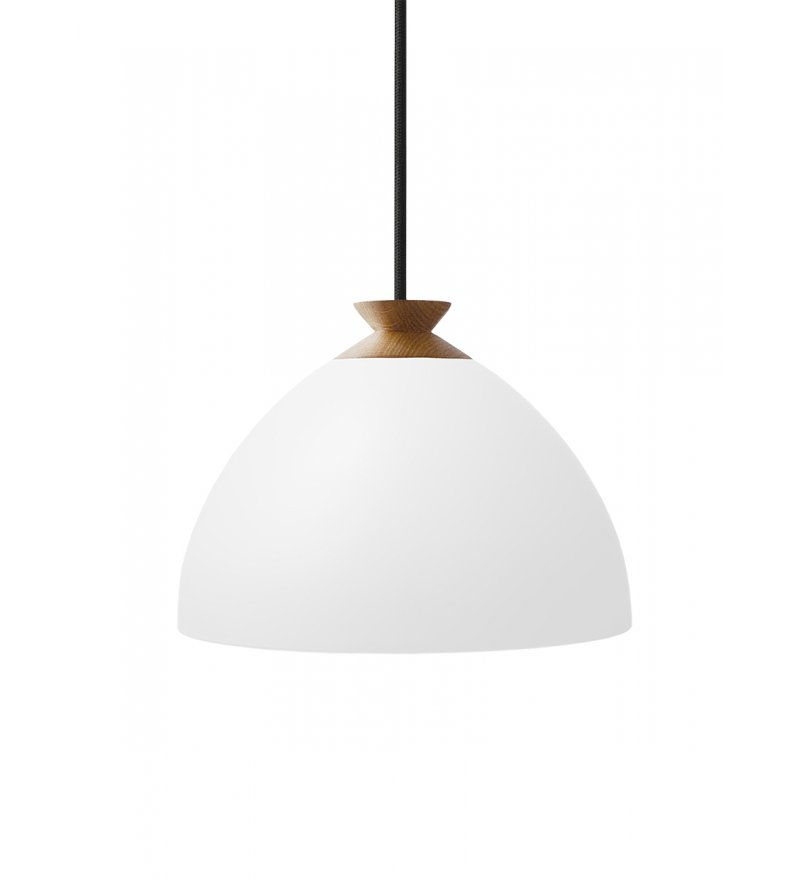 Lampa Bright Bloom Nordic Tales - biały klosz, czarny przewód