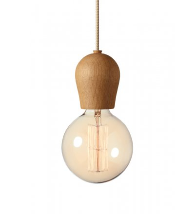 Lampa Bright Sprout Nordic Tales - dąb olejowany + przewód crema