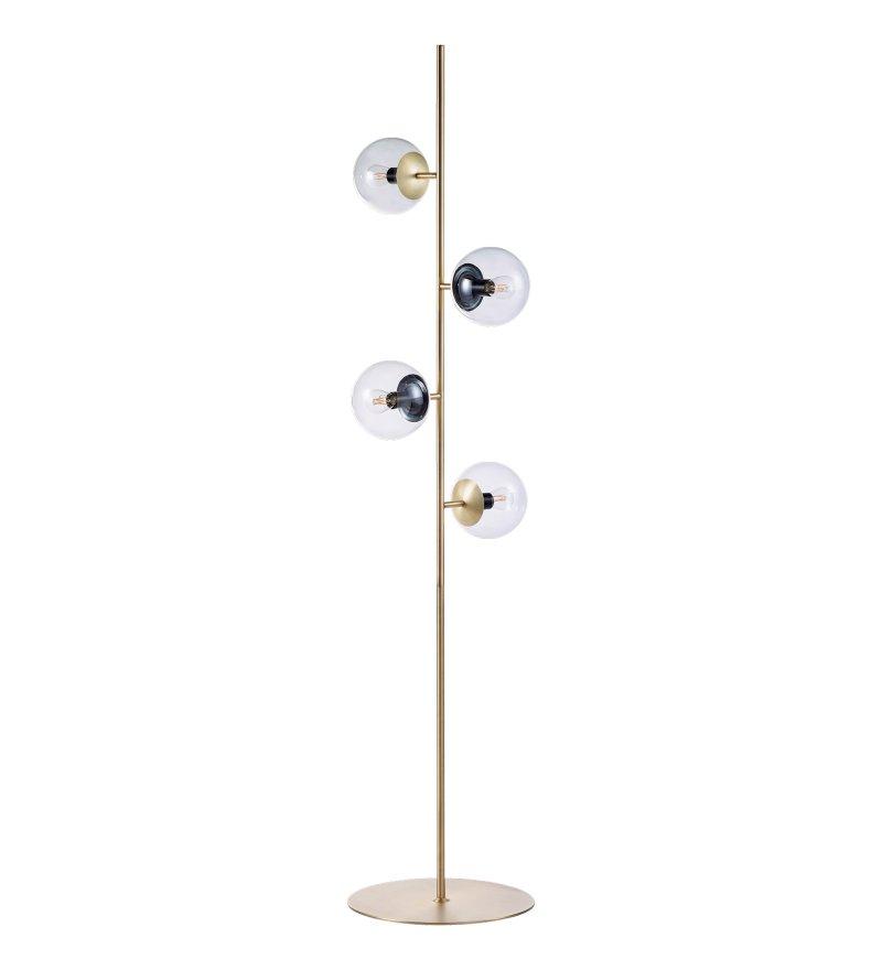 Lampa podłogowa Orb Bolia - mosiądz