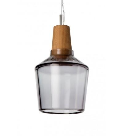 Lampa INDUSTRIAL 15/16P z antracytowego szkła - średnica 15 cm