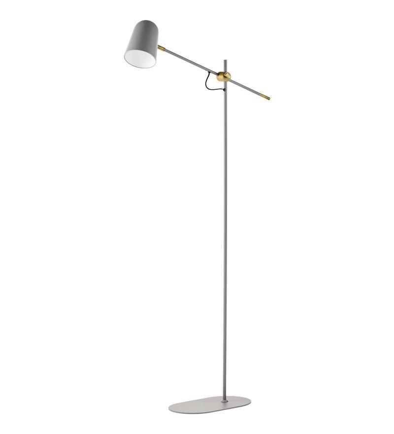 Lampa podłogowa Bureau Floor Bolia  - szara