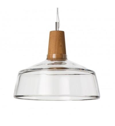 Lampa INDUSTRIAL 26/14P z bezbarwnego szkła - średnica 26 cm