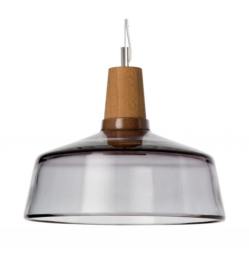 Lampa INDUSTRIAL 26/14P z antracytowego szkła - średnica 26 cm