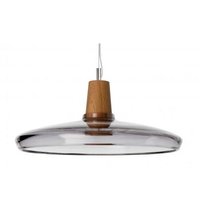 Lampa INDUSTRIAL 36/08P z antracytowego szkła - średnica 36 cm