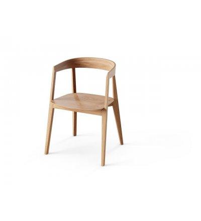 Krzesło KOS Nurt - dąb lakierowany