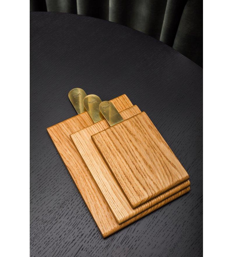 Deska do krojenia / taca do serwowania POLE Nurt - zestaw 3 sztuk