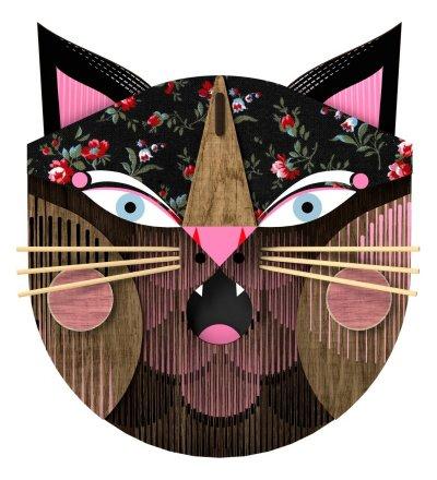 Dekoracja ścienna Maska Kota Whoops! MIHO