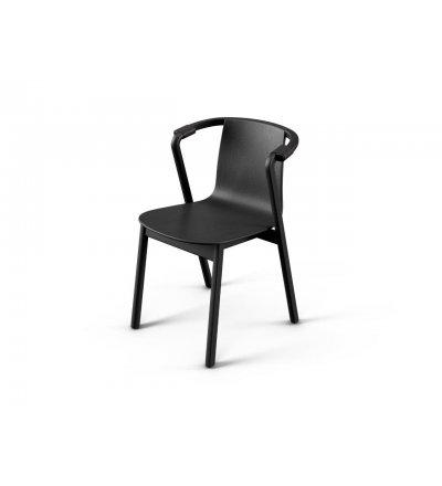 Krzesło SARNA Nurt - antracytowe, krótkie podłokietniki, skóra antracytowa