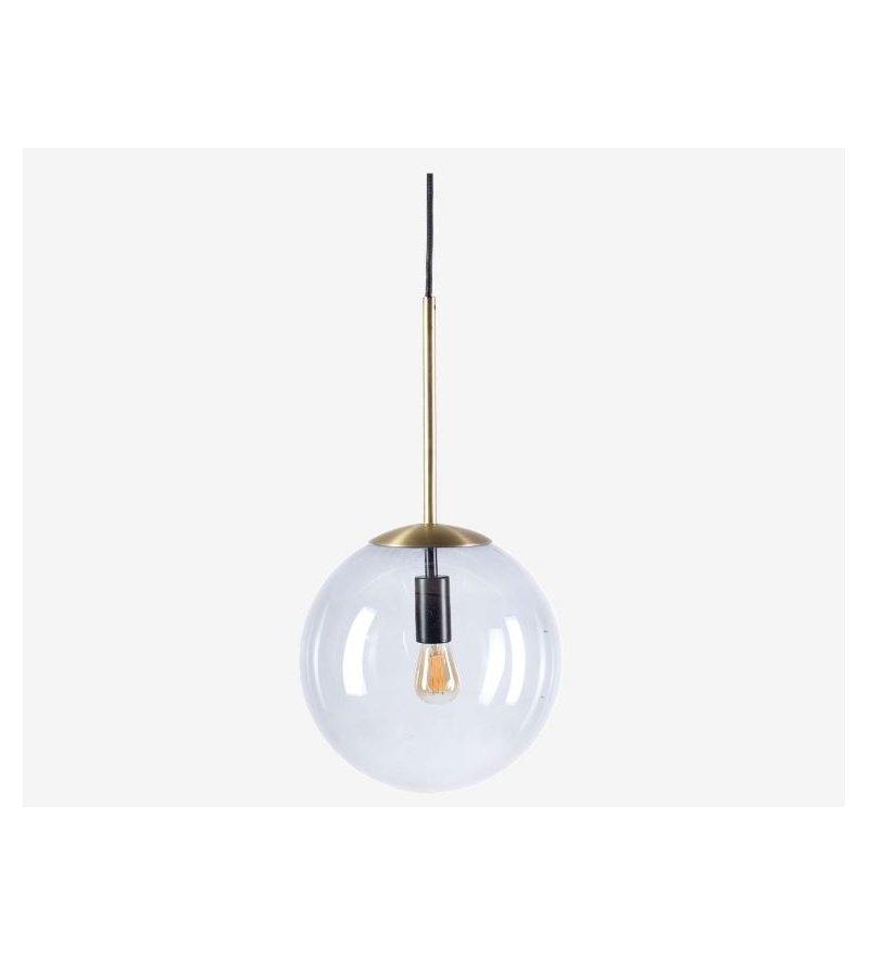Lampa wisząca pojedyncza Orb Bolia - mosiądz 25 cm