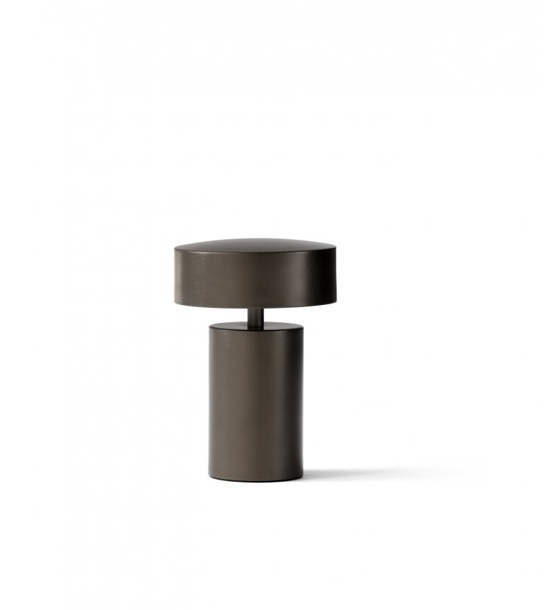 Lampa stołowa Column Menu - brązowa
