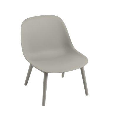 Krzesło na drewnianej podstawie FIBER LOUNGE CHAIR WOOD BASE MUUTO - różne kolory